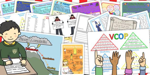 KS2 Writing Area Starter Kit - ks2, writing area, starter, pack