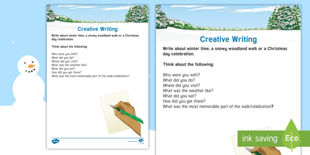 Elderly Care - Winter Writing Activity Sheet - Winter, Season, December, January, February, Snow, Activity Co-ordinators, Support, Ideas, Elderly C