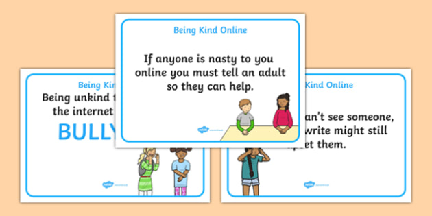 Being Kind Online Display Posters - display, posters, being kind, kindness, how to be kind online, online, internet safety, internet manners, manners, being kind online, being kind online posters, display posters, ICT classroom posters, ICT, A4 poste
