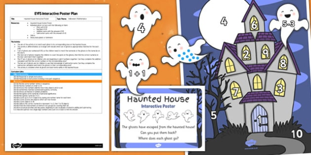 Haunted House Interactive Poster Plan and Resource Pack - haunted house, halloween, poster, plan