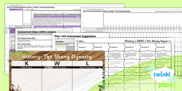 History: The Shang Dynasty UKS2 Unit Assessment Pack