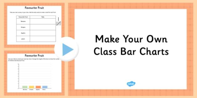 Make Your Own Class Bar Charts Editable Presentation - make
