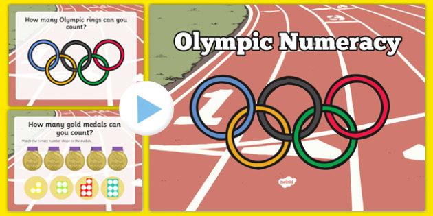 Olympic Numeracy Starter Nursery Reception - welsh, cymraeg, Olympics, Numeracy, Counting