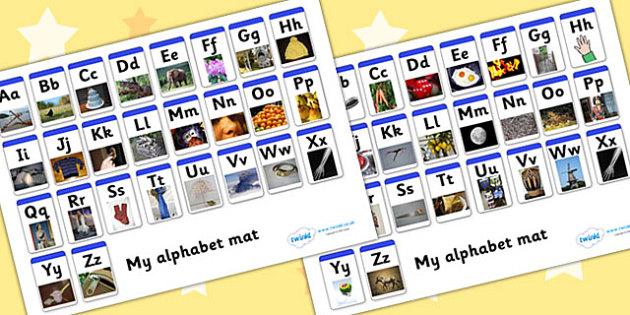 A-Z Alphabet Mat Upper Lowercase - alphabet, mat, upper, lowercase