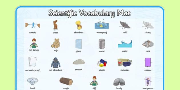 Everyday Materials Word Mat - everyday, materials, word mat, word, mat