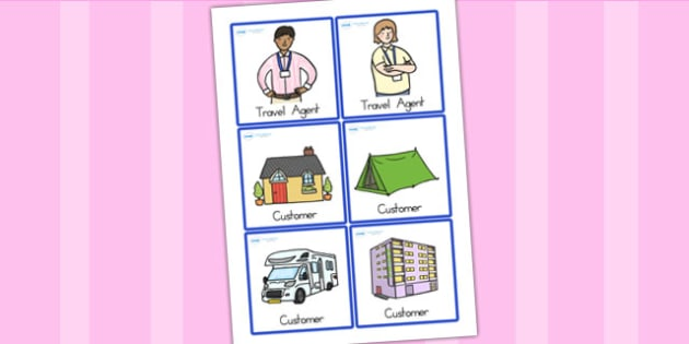 Travel Agents Role Play Badges - travel agents, role play, badges