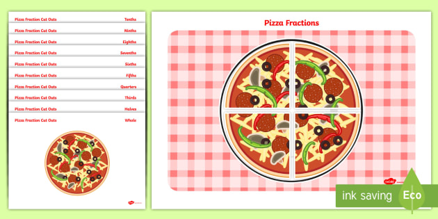 Pizza Fraction Cut-Outs - pizza fraction, cut outs, pizza, fraction, maths