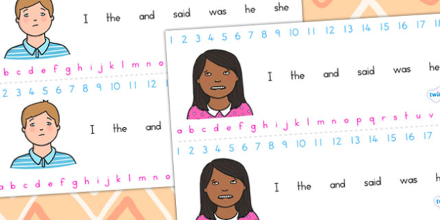 Ourselves Themed Combined Alphabet and Number Strips - alphabet