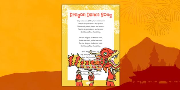 Dragon Dance Song - chinese new year, dragon dance, dragon, dance, song