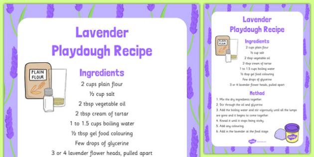 Lavender Playdough Recipe - lavender, playdough, recipe, activity