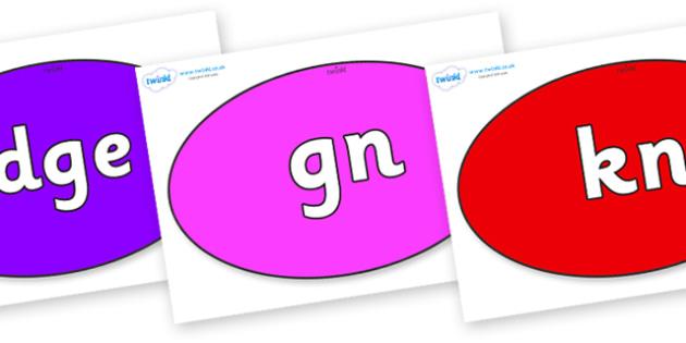 Silent Letters on Ovals - Silent Letters, silent letter, letter blend, consonant, consonants, digraph, trigraph, A-Z letters, literacy, alphabet, letters, alternative sounds