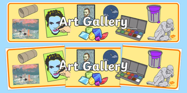 Art Gallery Role Play Display Banner - art gallery, role play, display banner, art gallery banner, role play banner, gallery role play, art gallery header