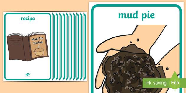 Mud Pie Role Play Posters - mud pie, role play, posters, display