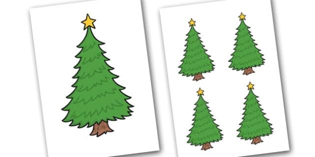 Christmas Trees Editable - christmas, trees, editable, display
