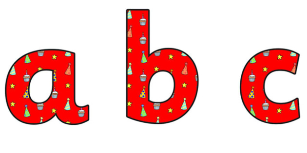 Birthday Themed A4 Display Lettering 4 - Birthday, Birthday Themed, Birthday Display Lettering, A4 Display Lettering, Display Lettering 4