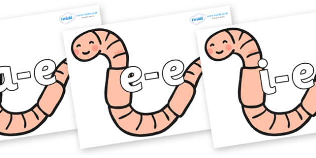 Modifying E Letters on Earthworms - Modifying E, letters, modify, Phase 5, Phase five, alternative spellings for phonemes, DfES letters and Sounds