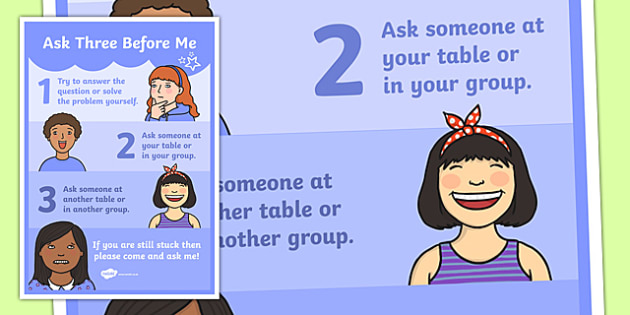 Ask Three Before Me A4 Display Poster-Australia