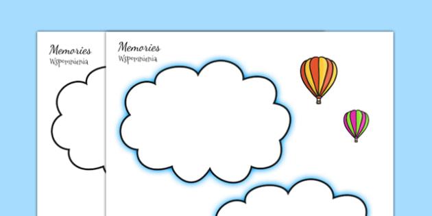Memories Writing Template Polish Translation - polish, ourselves, reflect, remember, write