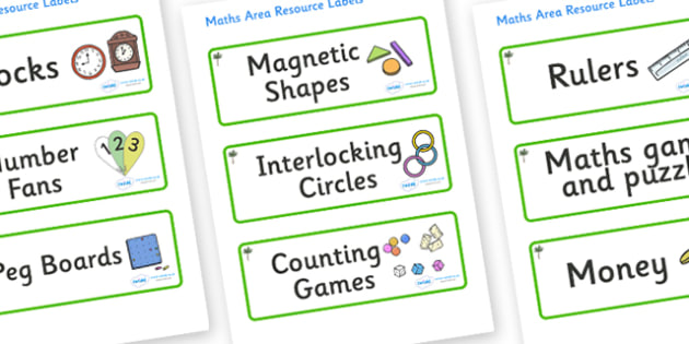 Palm Tree Themed Editable Maths Area Resource Labels - Themed maths resource labels, maths area resources, Label template, Resource Label, Name Labels, Editable Labels, Drawer Labels, KS1 Labels, Foundation Labels, Foundation Stage Labels, Teaching L