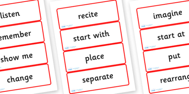 Year Three Numeracy Vocabulary Word Cards - Instructions - word cards, numeracy word cards, numeracy vocabulary, word flash cards, flash cards, key words