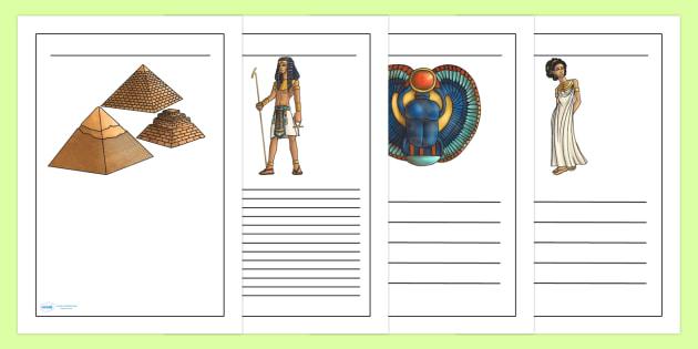 Ancient Egypt Writing Frames - egypt, writing, write, history