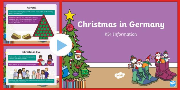 KS1 Christmas in Germany PowerPoint - Christmas, Nativity, Jesus, xmas, Xmas, Father Christmas, Santa, St Nic, Saint Nicholas, traditions,