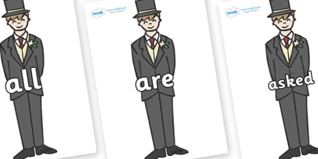 Tricky Words on Grooms - Tricky words, DfES Letters and Sounds, Letters and sounds, display, words