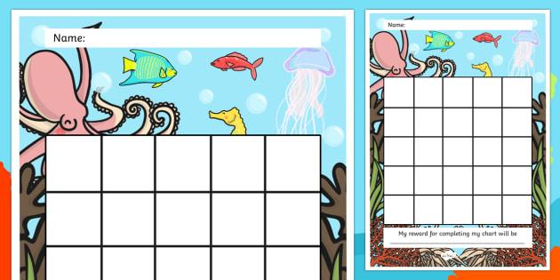 Great Barrier Reef Sticker Reward Chart - australia, reward
