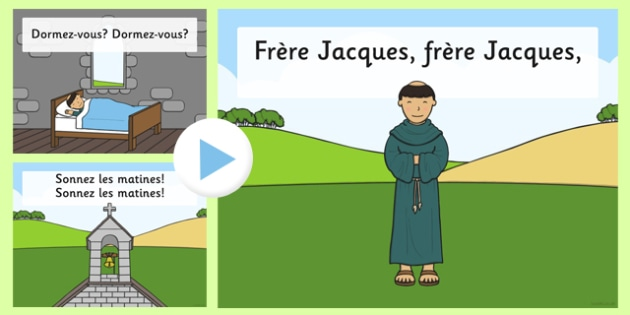 Frère Jacques Song PowerPoint - frère jacques, song, powerpoint, rhyme, nursery rhyme, french, brother john