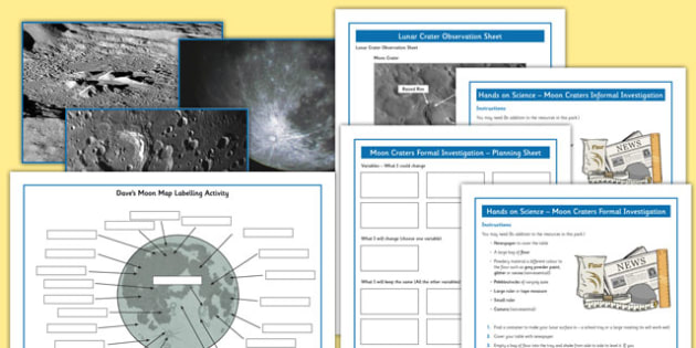 Lunar Craters Investigation Pack - lunar craters, investigation, pack