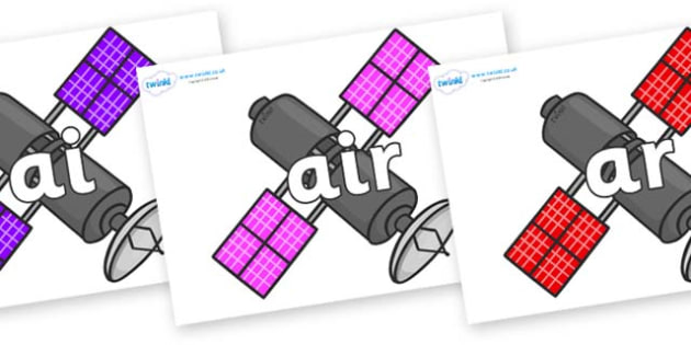 Phase 3 Phonemes on Satellites - Phonemes, phoneme, Phase 3, Phase three, Foundation, Literacy, Letters and Sounds, DfES, display