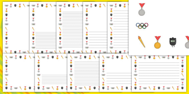 Summer Olympics Page Border Pack - usa, america, summer olympics, page border pack, page borders, summer, olympics