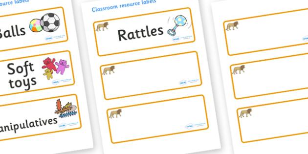 Lion Themed Editable Additional Resource Labels - Themed Label template, Resource Label, Name Labels, Editable Labels, Drawer Labels, KS1 Labels, Foundation Labels, Foundation Stage Labels, Teaching Labels, Resource Labels, Tray Labels, Printable lab