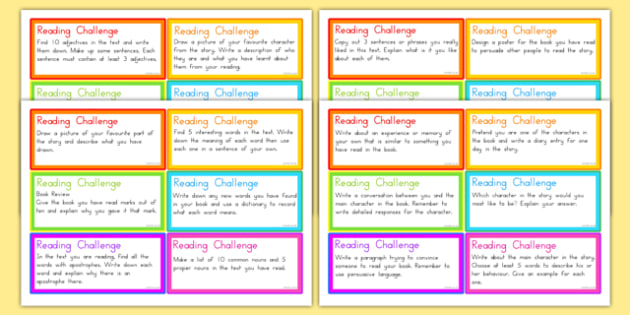 Guided Reading Challenge Cards - australia, guided, reading