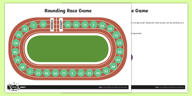 Rounding Race Board Game - Y4 Multiplication and Division Planit Maths, multiply, groups of, lots of, product, times, sets of,