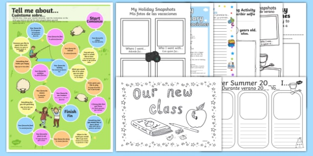 ks2 first day back activity pack spanish translation spanish. Black Bedroom Furniture Sets. Home Design Ideas