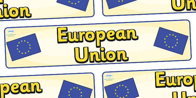 European Union Display Banner - European Union, Olympics, Olympic Games, sports, Olympic, London, 2012, display, banner, sign, poster, activity, Olympic torch, flag, countries, medal, Olympic Rings, mascots, flame, compete, events, tennis, athlete, s