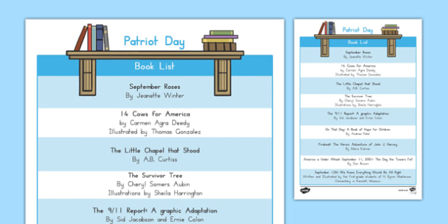 Patriot Day Book List