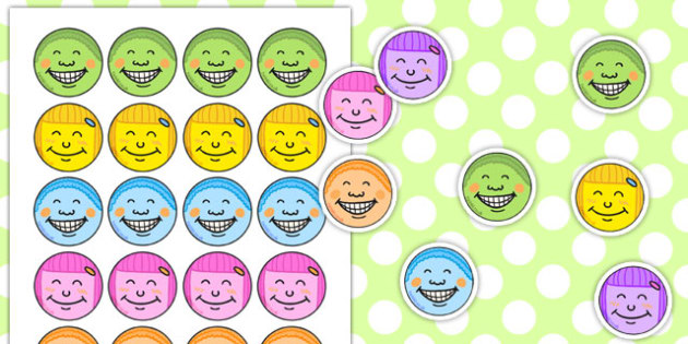 Smiley Face Stickers - smiley face, stickers, smiley, face, smile