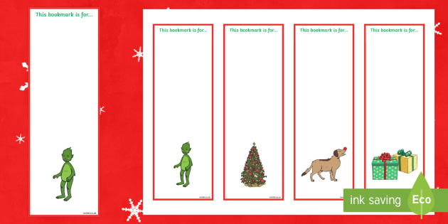 The Christmas Imp Editable Bookmarks - The Christmas Imp, the grinch,thegrinch who stole christmas, christmas, green, imp