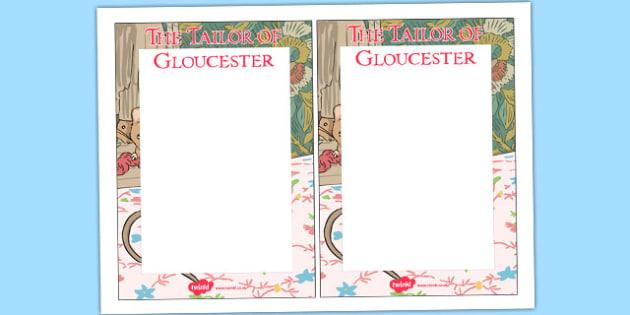 The Tailor of Gloucester Editable Note - tailor, gloucester, editable