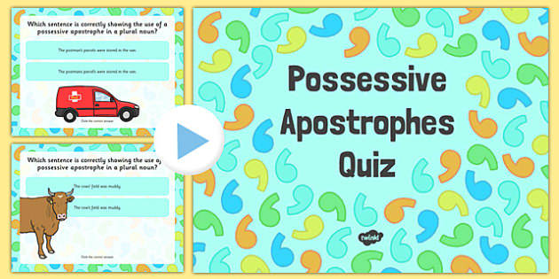 Using an Apostrophe of Possession Nouns Don't Change Plural SPaG