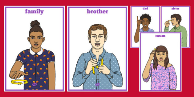 New Zealand Sign Language Family Signs Display Posters - nz, new zealand, sign language, family, signs, display, posters