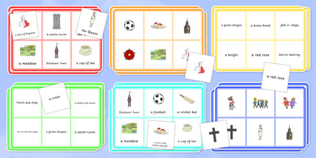 Elderly Care St Georges Day Bingo - Elderly, Reminiscence, Care Homes, St. George's Day