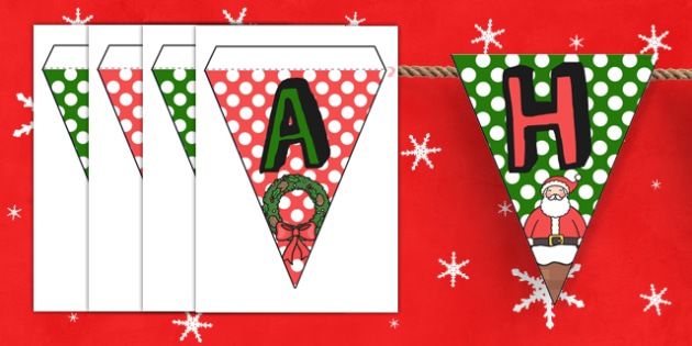 Happy Christmas Bunting - christmas, happy christmas, happy, bunting, display