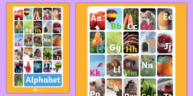Alphabet Display Poster Photos - alphabet, display, poster, photo
