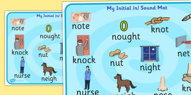 Initial n Sound Mat - initial n, n sound, sound, sound mat, mat