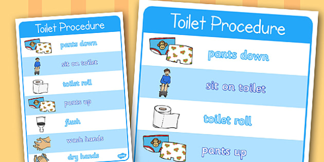 Toilet Procedure Poster - toilet procedure, class management, behaviour management, rules, display poster, poster, classroom poster, poster for display