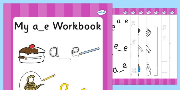 Phase 5 a_e Grapheme Workbook - phase five, graphemes, phases