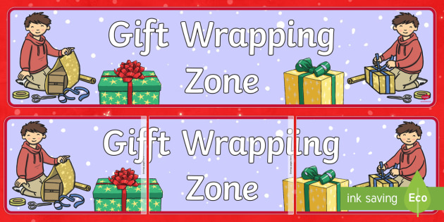 Gift Wrapping Zone Banner - Priority Resources, Christmas, gift wrapping, presents, xmas